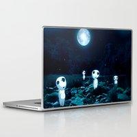 kodama Laptop & iPad Skins featuring Princess Mononoke (Kodama) by pkarnold + The Cult Print Shop