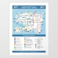 Tamriel Routemap Art Print