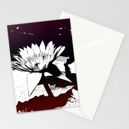Stylized Water lily Stationery Cards