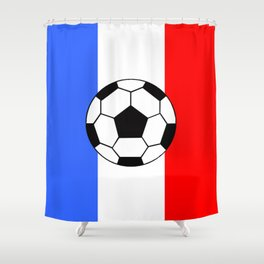 France Foot Shower Curtain