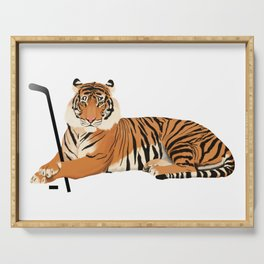 Ice Hockey Tiger Serving Tray