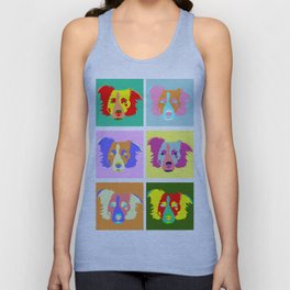 Border Collie Pop Art Unisex Tank Top