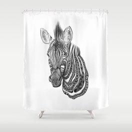 Aztec zebra Shower Curtain