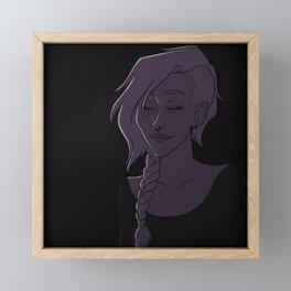 Prayer for the God of Darkness Framed Mini Art Print