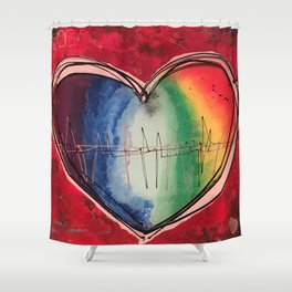 Beat of your heart Shower Curtain