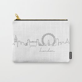 Pen line silhouette London Carry-All Pouch