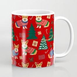 Merry Corgmess- Corgi Celebrate Christmas 2 - Xmas Red Coffee Mug