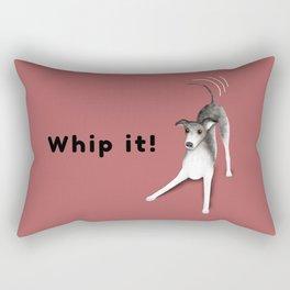 Whip it! (Blush Red) Rectangular Pillow