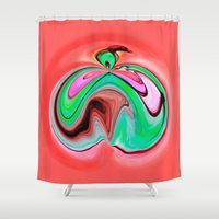 apple Shower Curtains featuring Apple by Ray Cowie