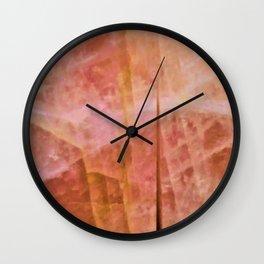 Wall of Citrine Wall Clock