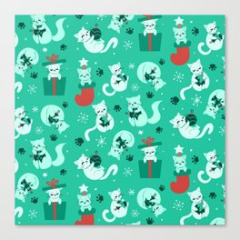 Merry Catmas Canvas Print