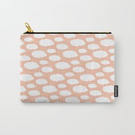 White Clouds on Pink Carry-All Pouch