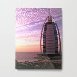 Burj Al Arab at Sunset Metal Print