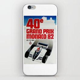 Gran Prix de Monaco, 1982, original vintage poster iPhone Skin
