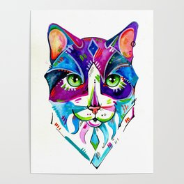 Abstract Cat 1 Poster