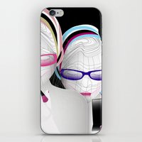girly iPhone & iPod Skins featuring Girly by Stéphanie Brusick / Art by shop
