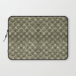 Quilted Moss Green Velvety Pattern Laptop Sleeve