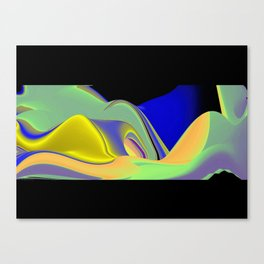 Abstract Rainbowart in retrostyle 20 Canvas Print
