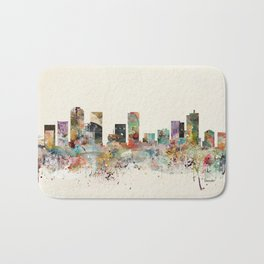 denver colorado skyline Bath Mat