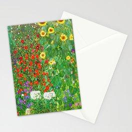 Garden with Sunflowers - Gustav Klimt Stationery Cards
