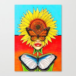 Sunflower Side Up Canvas Print