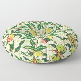 William Morris Exotic Fruit, Lemons and Pomegranates Floor Pillow