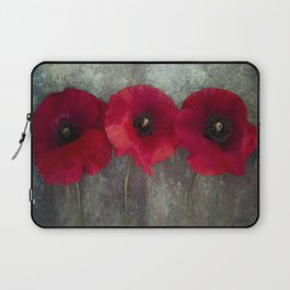 Three red poppies Laptop Sleeve