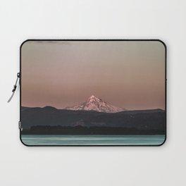 Pastel Peak - Mt. Hood over the Columbia Laptop Sleeve