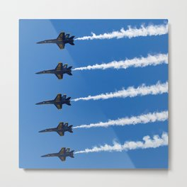 Five Ship Line Abreast Metal Print
