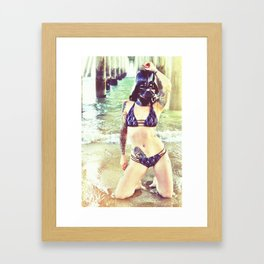 Darth Harmony's Summer Vacation Framed Art Print