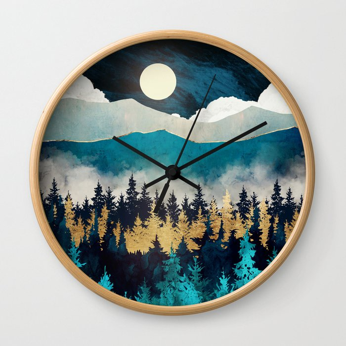 Evening Mist Wall Clock