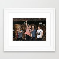 one direction Framed Art Prints featuring One Direction by behindthenoise