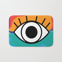 Bright Rainbow Eye Design Bath Mat