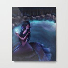 Mermaid Hinata Metal Print