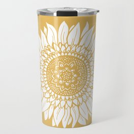 Yellow Sunflower Drawing Travel Mug