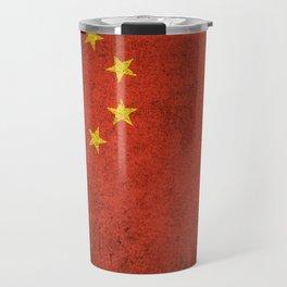 Old and Worn Distressed Vintage Flag of China Travel Mug