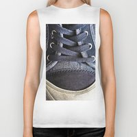 shoe Biker Tanks featuring Shoe by Fine2art