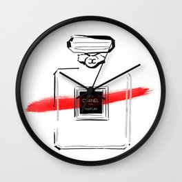 Red Perfume Wall Clock