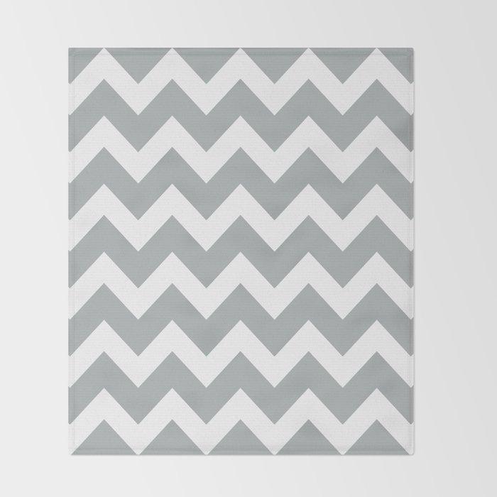 Chevron Grey & White Throw Blanket