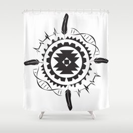 Native Amrican STEM Mandala Southwestern Shower Curtain