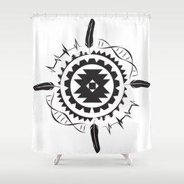 Native Amrican STEM Mandala Southwestern Shower Curtain