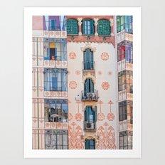 Surreal house in Barcelona. Art Print