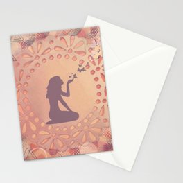 The Graceful Act of Letting Go Stationery Cards