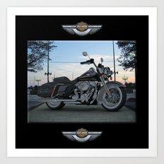 Harley Road King in #3dsmax My design Art Print