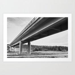 Bridged Art Print