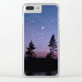 Twilight Forest Clear iPhone Case