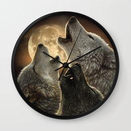 Wolf Trinity Wall Clock