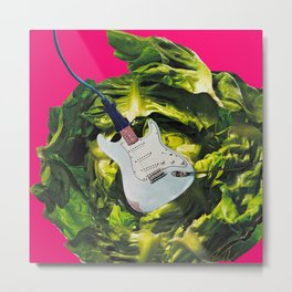 Plugging In and Rocking Out to the Power of Greens Metal Print