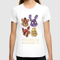 fnaf T-shirts featuring FNAF Five Nights At Freddy's by Kam-Fox