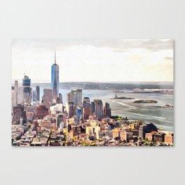 New York, panoramic view, USA Canvas Print